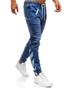 Мужские джинсовые брюки багги синие Bolf 2040