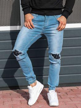 Мужские джинсовые брюки джоггеры светло-синие Bolf 2044-1