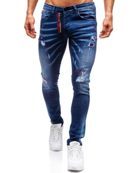 Мужские джинсовые брюки темно-синие Bolf 9237