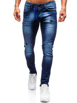 Мужские джинсовые брюки темно-синие Bolf 9241