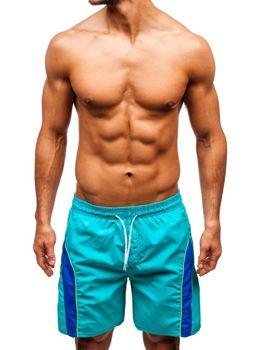 Мужские пляжные шорты бирюзовые Bolf 336