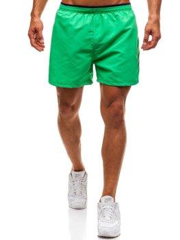 Мужские пляжные шорты зеленые Bolf Y768