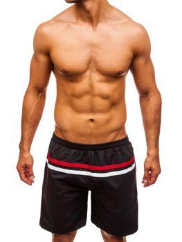 Мужские пляжные шорты черные Bolf Y765