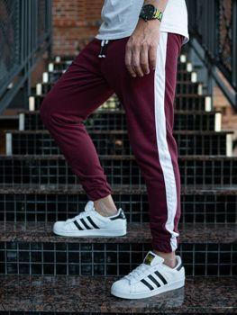 Мужские спортивные брюки джоггеры бордовые Bolf 11120