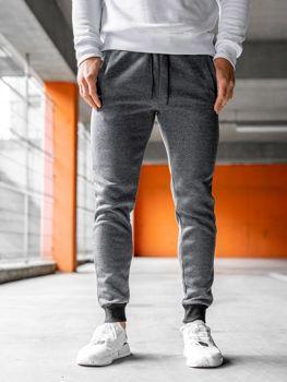 Мужские спортивные брюки джоггеры серые Bolf KS1894