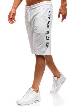 Мужские спортивные шорты белые Bolf 2004