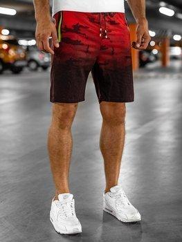 Мужские спортивные шорты красные Bolf KK213