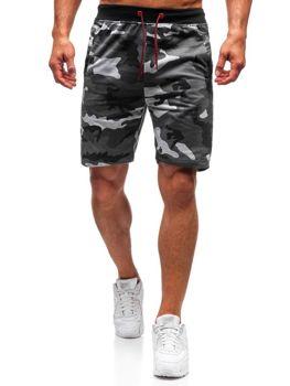 Мужские трикотажные шорты камуфляж-серый Bolf NP25