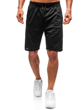 Мужские трикотажные шорты черные Bolf DK01