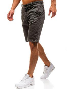 Мужские шорты зеленые Bolf 82227