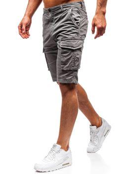Мужские шорты карго серые Bolf 5702-A
