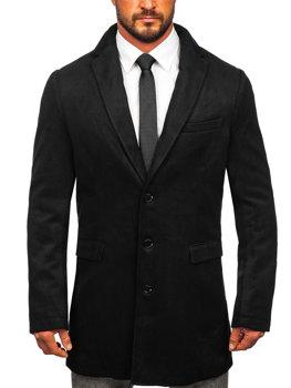 Мужское зимнее пальто черное Bolf 1047