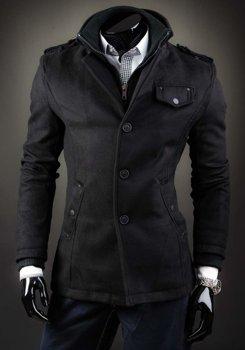 Мужское пальто черное Bolf 8853B