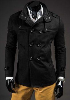Мужское пальто черное Bolf 8857B