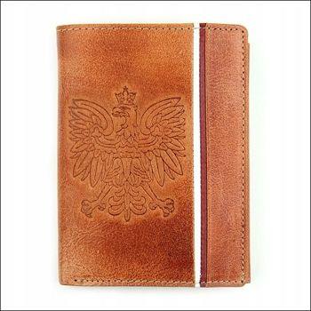 Мужской кошелек кожаный светло-коричневый 679