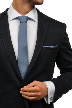 Мужской набор галстук, запонки, пашетка темно-серый Bolf KSP01