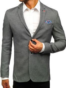 Мужской пиджак casual черный Bolf 0158A