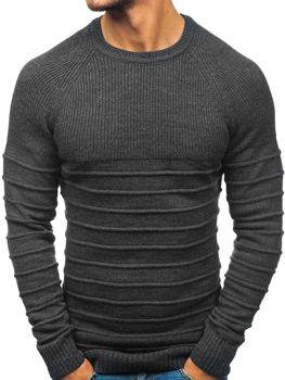 Мужской свитер антрацитовый Bolf 161