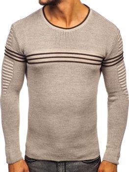 Мужской свитер бежевый Bolf 0001