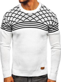 Мужской свитер белый Bolf 3017