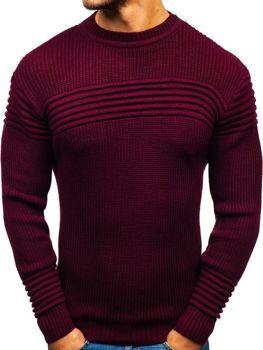 Мужской свитер бордовый Bolf6004