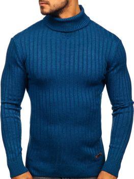 Мужской свитер гольф синий Bolf 3070