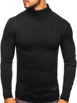 Мужской свитер гольф черный Bolf 3070