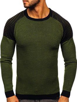 Мужской свитер зеленый Bolf 0004