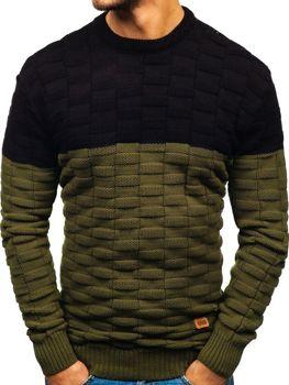 Мужской свитер зеленый Bolf6003
