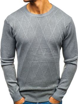 Мужской свитер серый Bolf H1825-A