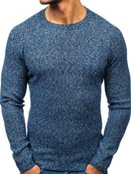 Мужской свитер синий Bolf H1810