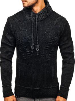Мужской свитер черный Bolf 20012