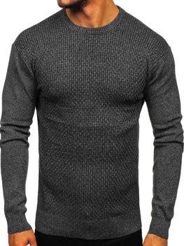 Мужской свитер черный Bolf 8512
