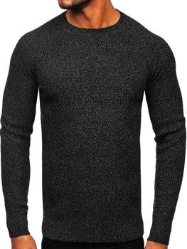 Мужской свитер черный Bolf H1810