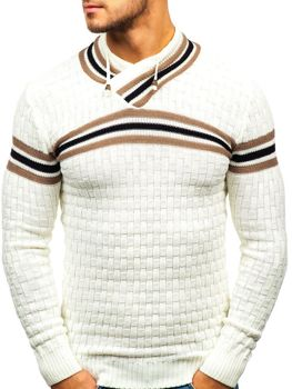 Мужской свитер экрю Bolf 6006