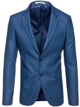 Мужской элегантный пиджак светло-синий Bolf 1050