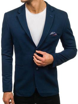 Мужской элегантный пиджак темно-синий Bolf 218