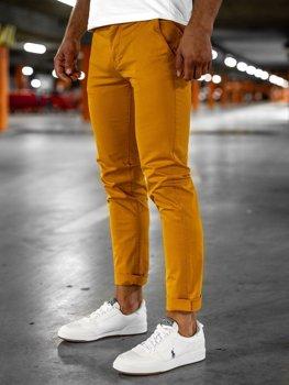 Оранжевые мужские брюки чиносы Bolf 1146