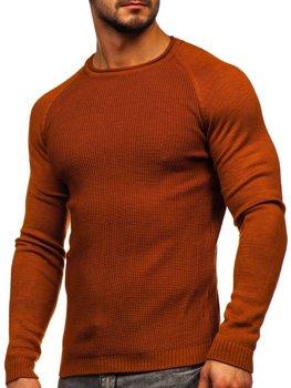 Оранжевый мужской свитер Bolf 1009