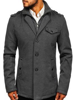 Пальто мужское серое Bolf 8853