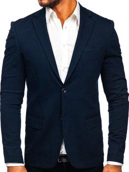 Пиджак мужской элегантный темно-синий Bolf SR2003