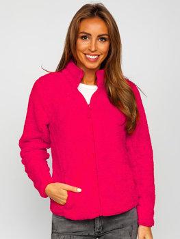 Розовая флисовая женская куртка Bolf HH006