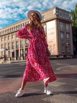 Розовое платье женское Bolf A468
