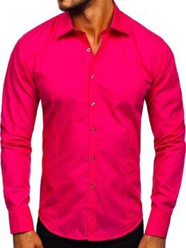 Рубашка мужская BOLF 1703 коралловая