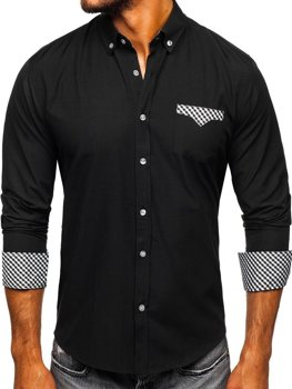 Рубашка мужская BOLF 4711 черная