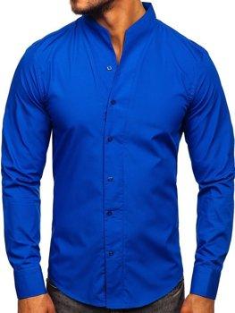 Рубашка мужская BOLF 5702 кобальт