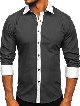 Рубашка мужская BOLF 6882 графит