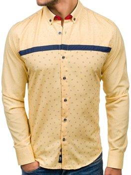 Рубашка мужская BOLF 6903 желтая