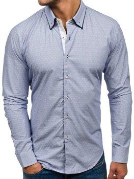 Рубашка мужская GLO-STORY 9658 голубая