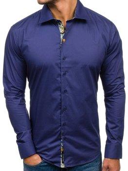 Рубашка мужская GLO-STORY 9983 темно-синяя